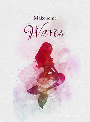Mixed Media - Make Some Waves by Rebecca Jenkins