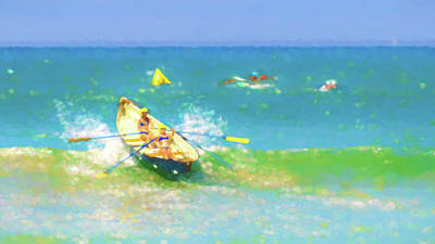 Row Boat Digital Art - Make That Turn by Scott Campbell