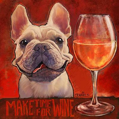 Make Time For Wine Art Print by Sean ODaniels