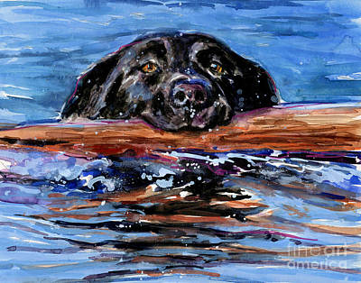 Fetch Painting - Make Wake by Molly Poole