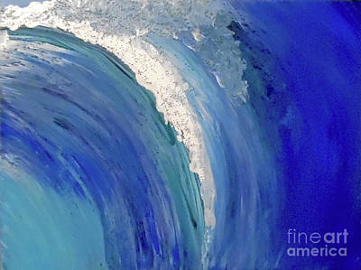 Abstract Handbag Painting - Make Waves by Jilian Cramb - AMothersFineArt