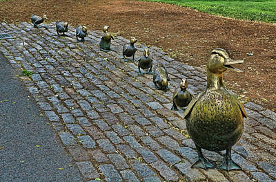 Photograph - Make Way For Ducklings # 2 - Boston by Allen Beatty