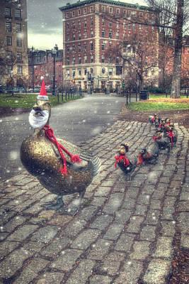 Photograph - Make Way For Ducklings 2 - Boston Public Garden by Joann Vitali