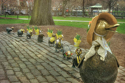 Photograph - Make Way For Ducklings In Spring Bonnets - Boston by Joann Vitali