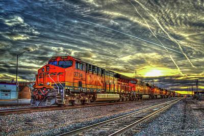 Photograph - Make Way Resting B N S F Train Gallup New Mexico Art by Reid Callaway