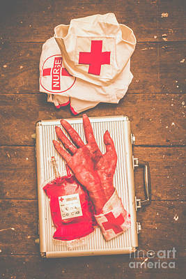 Uniforms Photograph - Make Your Own Frankenstein Medical Kit  by Jorgo Photography - Wall Art Gallery