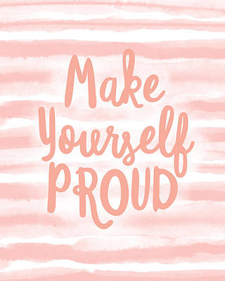 Mixed Media - Make Yourself Proud -art By Linda Woods by Linda Woods