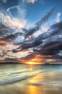 Ocean Sunset Photograph - Makena Beach Maui Hawaii Sunset by Dustin K Ryan
