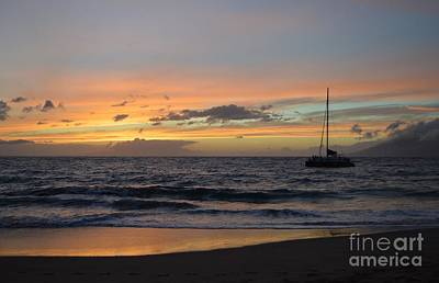 Photograph - Makena Sunset by Michelle Welles