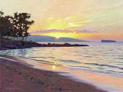 Painting - Makena Sunset by Steve Simon