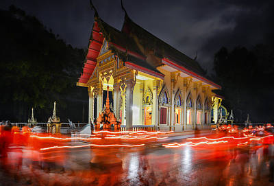 Lee Craker Royalty-Free and Rights-Managed Images - Makha Bucha Day Procession  by Lee Craker