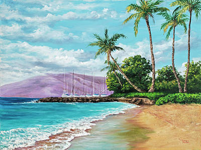 Painting - Makila Beach by Darice Machel McGuire