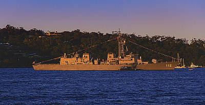 Photograph - Makinami In Sydney's Sunset by Miroslava Jurcik