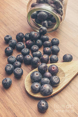 Making Blueberry Jam Art Print