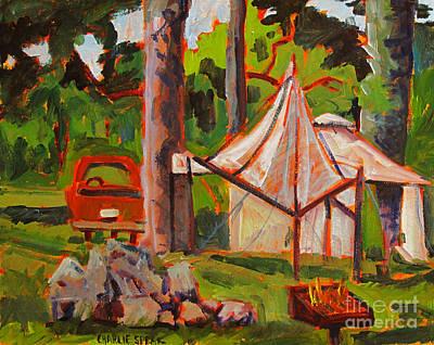 Making Camp At Flint Ridge Original by Charlie Spear