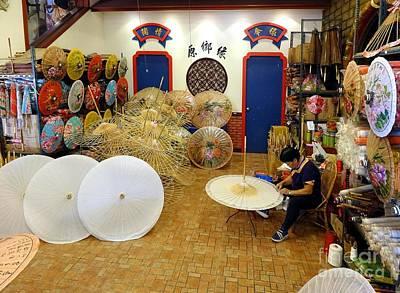 Photograph - Making Chinese Paper Umbrellas by Yali Shi