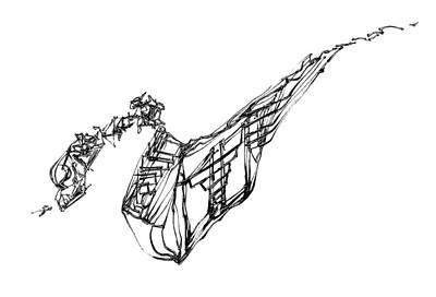 Drawing - Making Friends by Daniel Schubarth