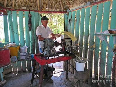 Making Juice From Raw Sugar Cane Original