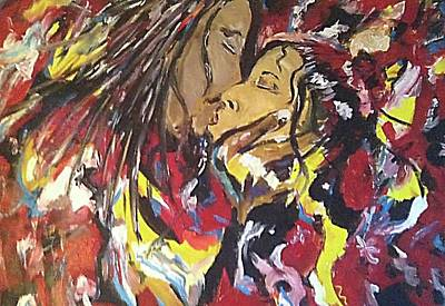 Abstract Lightart Painting - Making Love by Bobby Wilkins III