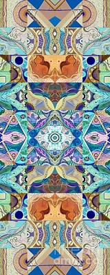 Digital Art - Making Magic - A  T J O D  Arrangement Inverted by Helena Tiainen