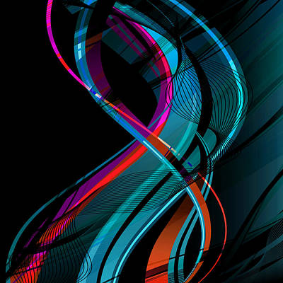 Abstract Movement Digital Art - Making Music 1-2 by Angelina Vick
