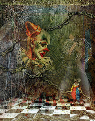 Digital Art - Making Of A Clown by Linda Carruth