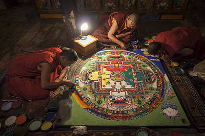 Photograph - Making Of Mandala by Hitendra SINKAR