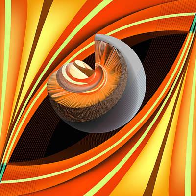 Alien Mixed Media - Making Orange Planets by Angelina Vick