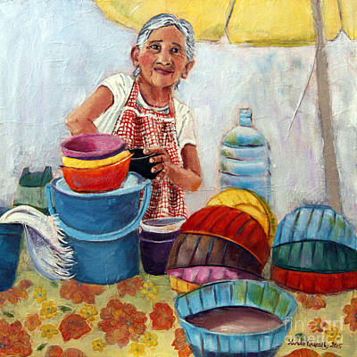 Painting - Making Pozol by Linda Queally