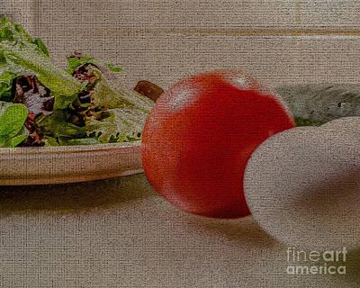 Making Salad Art Print by Brenda Landdeck