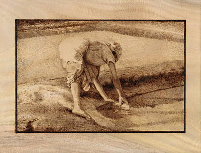 Pyrography Pyrography - Making Salt by Conrad  Pinto