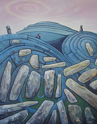 Burren Painting - Making Sense Of The Burren by Eamon Doyle
