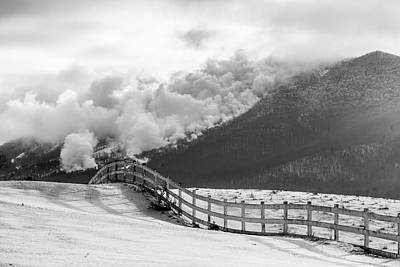 Photograph - Making Snow Bw by Tim Kirchoff