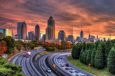 Reid Park Photograph - Making The Curve Atlanta Midtown To Downtown Art by Reid Callaway