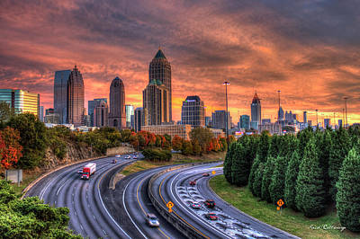 Photograph - Making The Curve Atlanta Midtown To Downtown by Reid Callaway