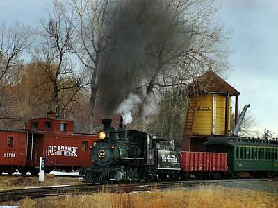Colorado Railroad Museum Photograph - Making Way by Ken Smith