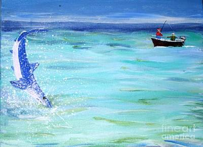 Painting - Mako On Line by Bill Hubbard