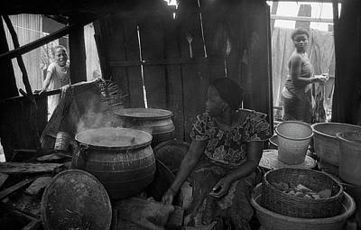 Photograph - Cooking Corn Meal For Sale by Muyiwa OSIFUYE