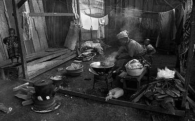 Photograph - Grandma Cooking by Muyiwa OSIFUYE