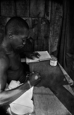 Photograph - Quoranic Verses On Wooden Tablet - V by Muyiwa OSIFUYE