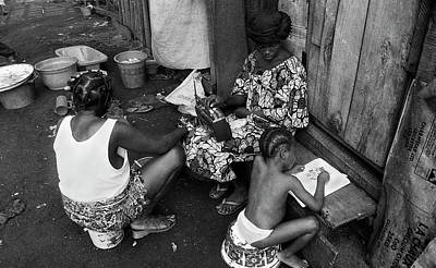 Photograph - Homework After School by Muyiwa OSIFUYE