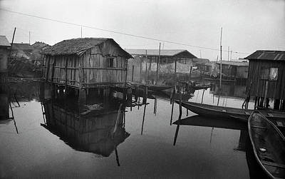 Photograph - Houses On Stilts by Muyiwa OSIFUYE