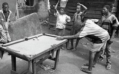Photograph - Playing Their Snooker Or Pool by Muyiwa OSIFUYE