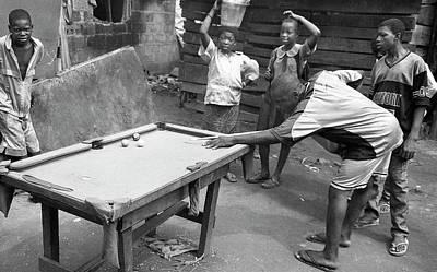 Photograph - Playing Their Snooker Or Pool by Muyiwa OSIFUYE