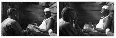 Photograph - Consult-make-a-wish Diptych by Muyiwa OSIFUYE