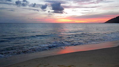 Photograph - Makua Sunset 2011 by Erika Swartzkopf