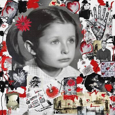 Little Girl Mixed Media - Mala by Sladjana Lazarevic