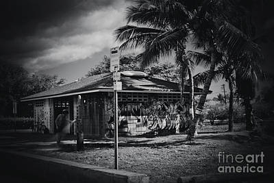 Mala Wharf Showers Lahaina Maui Hawaii Art Print by Sharon Mau