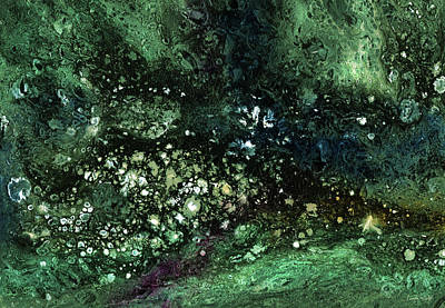 Celestial Mixed Media - Malachite- Abstract Art By Linda Woods by Linda Woods