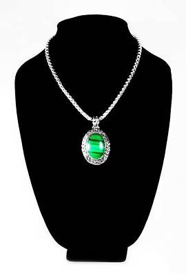 Sterling Silver Photograph - Malachite by Diana Angstadt